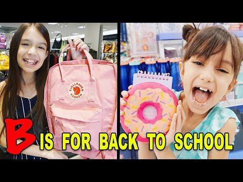 I'll BUY ANYTHING that STARTS with the LETTERS we PICK Challenge! BACK TO SCHOOL!