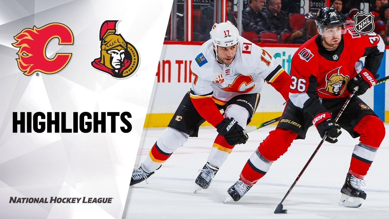 NHL Highlights | Flames @ Senators 1/18/20