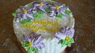 Украшение тортов в домашних условиях Оформление тортов кремом Украшение тортов кремом Cake