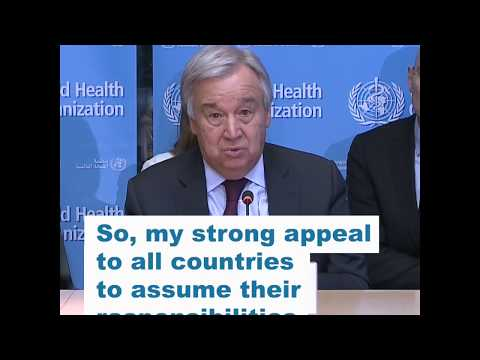 Visit of UN Secretary-General to WHO Headquarters - 24 February 2020