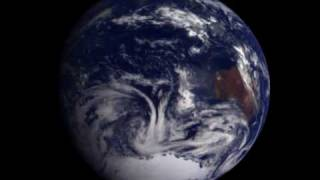Rotating Earth from Space (Galileo spacecraft 1990) HD