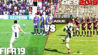 FIFA 19 vs. PES 2019: Free Kicks | 4K