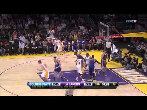 04 01 2012   Warriors vs  Lakers   Ramon Sessions Highlights