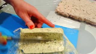 Ароматное Сливочное Масло с Зеленью и Чесноком . Aromatic Butter with Herbs and Garlic .