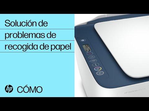 Solución de problemas de recogida de papel | HP serie DeskJet 2700, DeskJet Plus 4100 | HP
