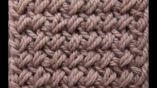 Красивый плотный узор спицами Урок 59   Beautiful tight pattern spokes