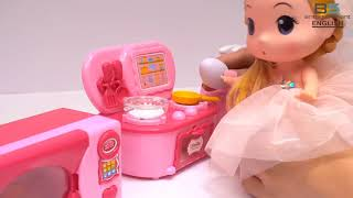 BS ENTER | Pinky Kitchen for Kids | Play cooking food| Toy cooking food KIDS playset