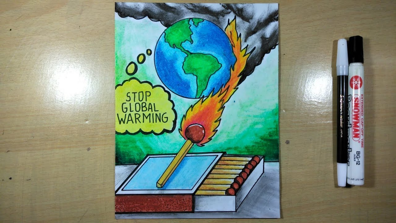 Poster Global Warming Yang Mudah Digambar Youtube