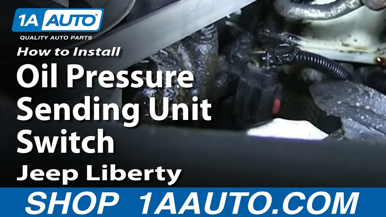 nissan patrol wiring diagram yamaha g14 how to install replace oil pressure sending unit switch 3.7l 2003-12 jeep liberty - youtube