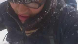 豪雪地で新聞配達をしています。 毎日4km標高差100m×2回(登って降りて...