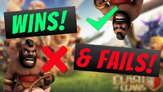 Wins & Fails Episode #1 Hog Riders Galore! Clash of Clans & Boom Beach