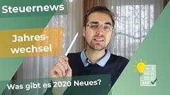 JAHRESWECHSEL - Was gibt es 2020 Neues?