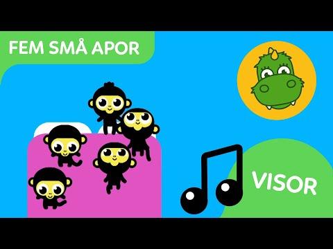 Bolibompa Baby: Fem små apor