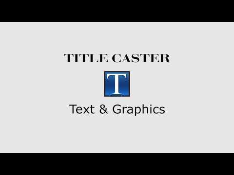 Amigo TitleCaster ( Character Generator ) text , graphics & tickers creator