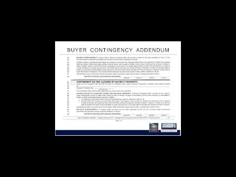 AAR Buyer Contingency Addendum Final
