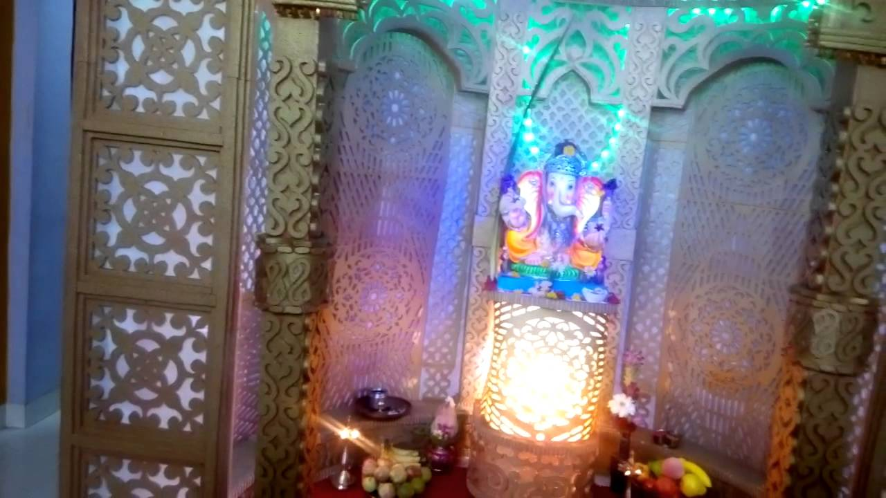 My Home GANESH, GANPATI DECORATION 2015 PRAVIN KAGE PUNE   YouTube