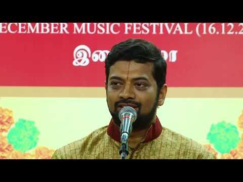 Sriram Parthasarathy l Carnatic Vocal l December Music Festival 2017 l Sri Parthasarathy Swami Sabha