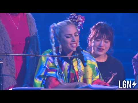 Lady Gaga Invites Japanese Fans To Her ENIGMA Show Rehearsal In Las Vegas.