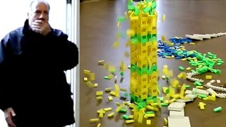 DAD CAUGHT KNOCKING OVER MY DOMINOES! (April Fools PRANK!)