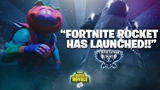 FORTNITE ROCKET LAUNCH!! (ft. Ninja, DrLupo & Trevor May) | Fortnite Battle Royale Highlights #61