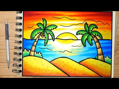 Drawings For Beginners Nature Drawing Easy Oil Pastel Drawing Scenery Simple Drawings Youtube