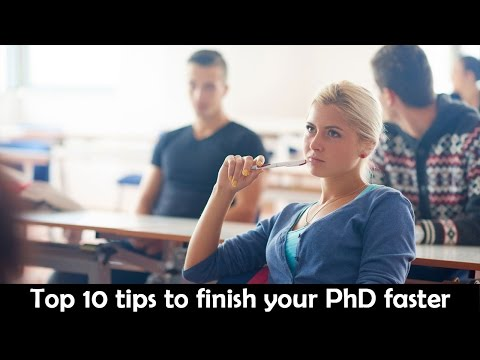 Top 10 tips to finish your PhD faster