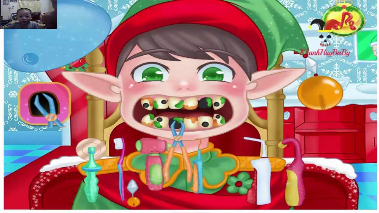 Trò chơi bác sĩ khám răng cho bệnh nhân – Khánh Huy chơi game