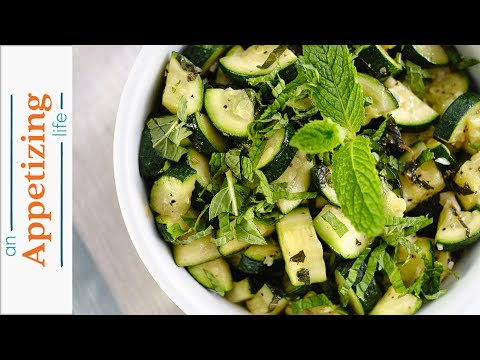 Zucchini with Fresh Mint | Simple Side Dish Recipe