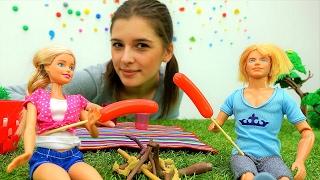Кукла Барби и Кен идут на пикник - Видео для девочек