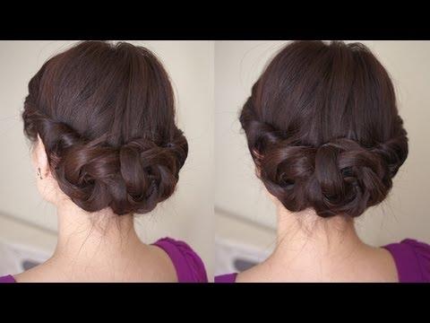 Spring Braided Flower Hair Tutorial Youtube