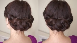 vuclip Spring Braided Flower Hair Tutorial