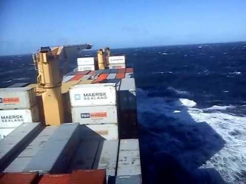 tormenta en mar argentino