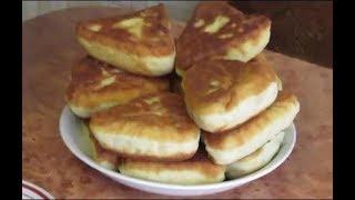 Пирожки с фаршем,рисом и зеленым луком