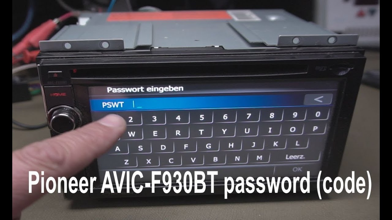 Nieuw Pioneer AVIC-F930BT password (code) - YouTube YK-53