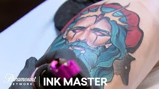 Greek Mythology - Zeus vs. Hades: Elimination Tattoo | Ink Master: Return of the Masters (Season 10)