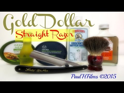 Gold Dollar Straight Razor  -  Maca Root Shaving Cream