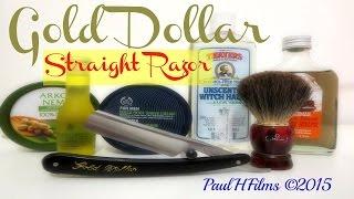 Gold Dollar Straight Razor  -  Maca Root Shaving Cream