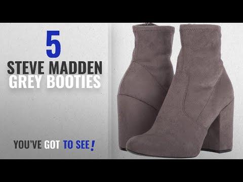 Top 5 Steve Madden Grey Booties [2018]: Steve Madden Women's Gaze Ankle Bootie, Grey, 7.5 M US