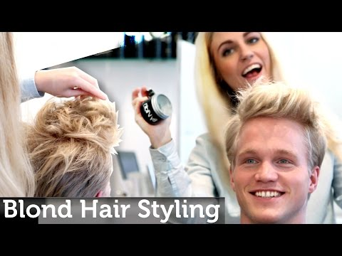 Men's Blond Hair Inspiration | Medium Short Length | Messy Look | Legendary Hairstyle by Slikhaar TV