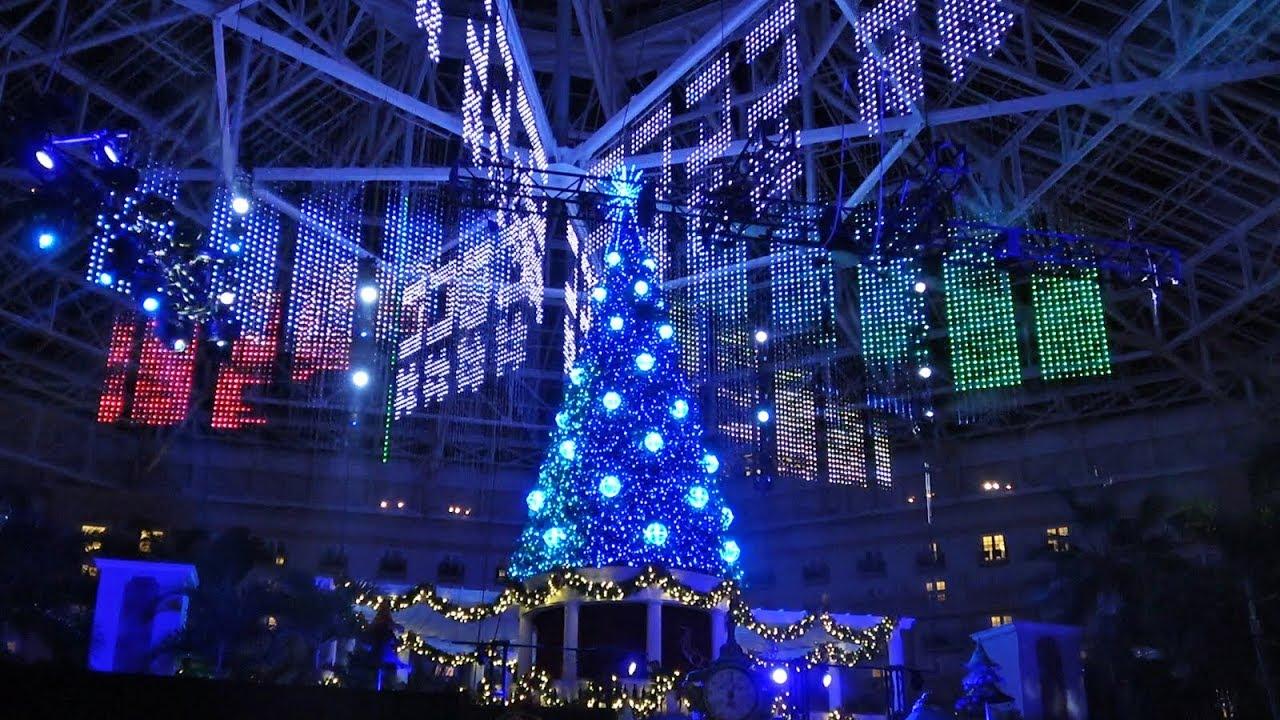 Christmas Light Show Near Me 2020.New Lit Christmas Tree Lighting Light Show At Gaylord Palms Resort 2019 Orlando Fl Holidays