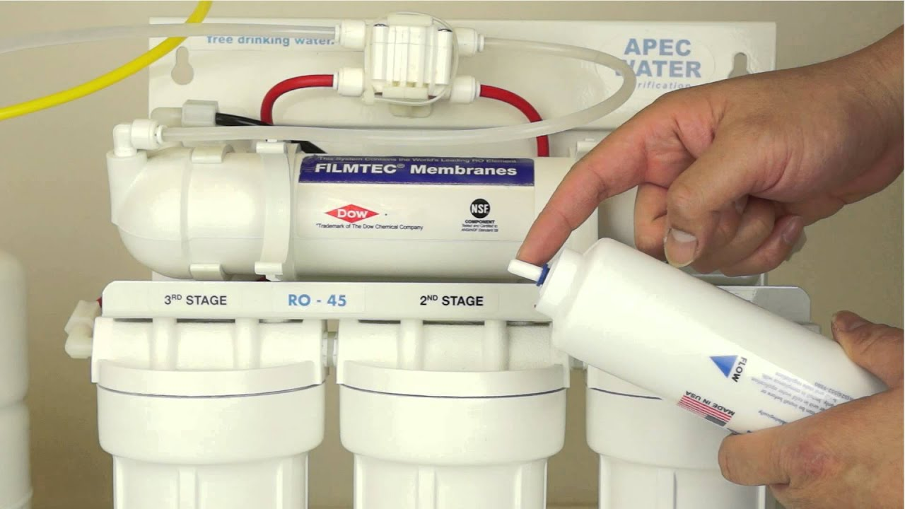 Replacing A Reverse Osmosis Inline Carbon Filter With