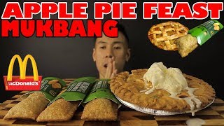 Gambar cover [MUKBANG] APPLE PIE FEAST+MCDONALDS APPLE PIE-BIG BITES