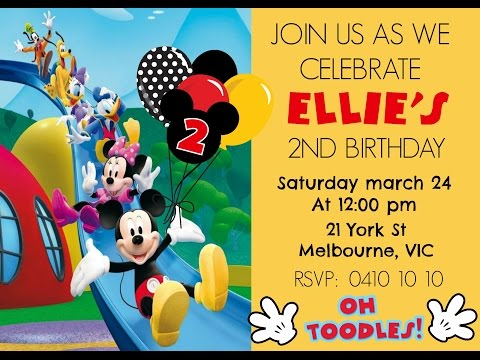 Free printable birthday invitations mickey mouse digital invitation how to make at home diy filmwisefo