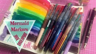 ♥ Mermaid Markers by Jane Davenport | Unboxing, Demo & Review  | I'm A Cool Mom