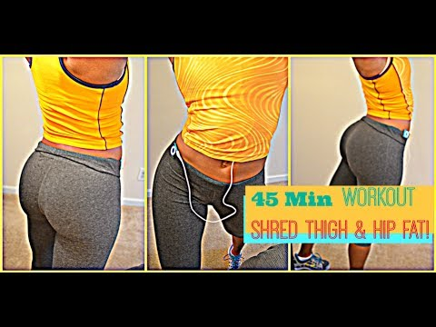 The BEST 45MIN HIP/THIGH Shred Fat Workout for WOMEN! I HangTight with MarC