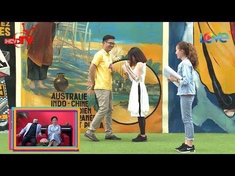 Chàng trai Sài Gòn bất ngờ hôn nữ kế toán ngay trên truyền hình làm cô hạnh phúc ngất ngây 😍