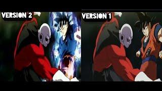 Dragon ball super:  opening 2 comparación (version 1 vs version 2 fanmade)
