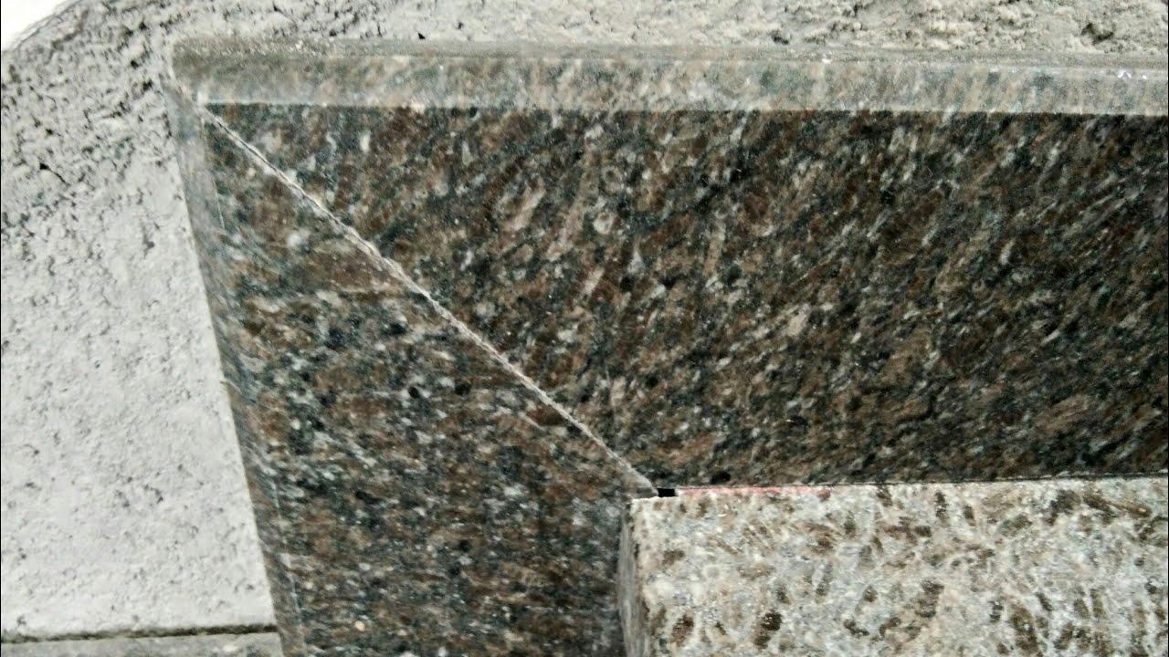 How To Mitre Cut Granite Skirting 45 Degree Youtube