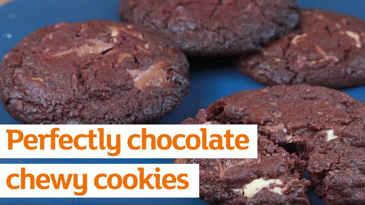 Perfectly Chewy Chocolate Cookies Recipe Sainsburys
