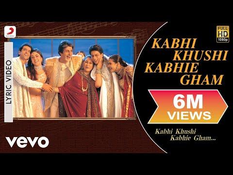 Kabhi Khushi Kabhie Gham Lyric - Title Track | Shah Rukh Khan | Lata Mangeshkar
